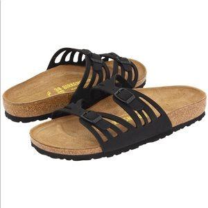 Birkenstock Granada Slip on Sandals Black